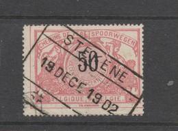 COB 21 Oblitéré STEKENE - Bahnwesen