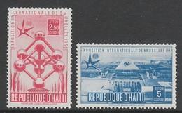 PAIRE NEUVE D'HAÏTI - EXPOSITION UNIVERSELLE DE BRUXELLES N° Y&T PA 121/12 - 1958 – Bruxelles (Belgique)