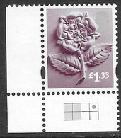 "GB  - 2015  £1.33   ENGLAND  ""Tudor Rose""  Single With Cartor GRID - Regionalmarken"