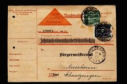 A5613) DR Infla Nachnahmekarte Karlsruhe 16.6.23 N. Neulussheim - Deutschland