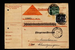 A5613) DR Infla Nachnahmekarte Karlsruhe 16.6.23 N. Neulussheim - Briefe U. Dokumente