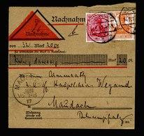 A5614) DR Nachnahmekarte Mannheim14.6.17 N. Maudach - Deutschland
