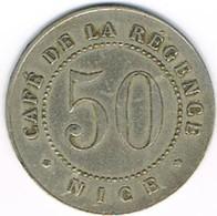 Nécessité - INEDIT - 50 Cts Alu - Café De La Régence - Nice (06) - Monétaires / De Nécessité