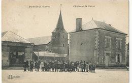 Boisseaux Eglise Et Mairie  Lenormand Le Deley Timbrée  Boisseaux 1920 - France