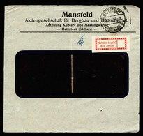 A5615) DR Infla Briefvorderseite Hettstedt 28.9.23 Gebührenzettel Mi.1b - Briefe U. Dokumente