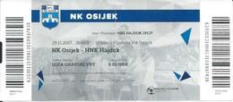 Sport Ticket UL000439 - Football (Soccer / Calcio) - Osijek Vs Hajduk Split: 2017-11-29 - Tickets & Toegangskaarten