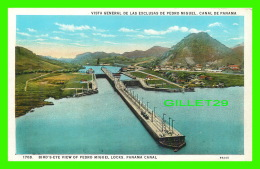 PANAMA - BIRD'S-EYE VIEW OF PEDRO MIGUEL LOCKS, PANAMA CANAL - I. L. MADURO JR - - Panama