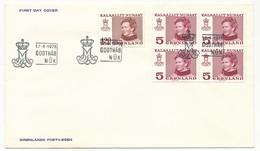 GROENLAND - 4 FDC De 1978 + 1 De 1980 - Koningin Margrethe II - Groenland