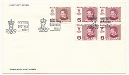 GROENLAND - 4 FDC De 1978 + 1 De 1980 - Koningin Margrethe II - Briefe U. Dokumente