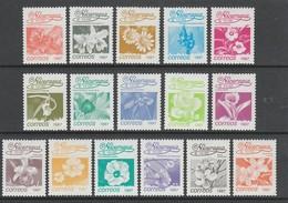 SERIE NEUVE DU NICARAGUA - FLEURS (SERIE COURANTE 1987) N° Y&T 1435 A 1450 - Other