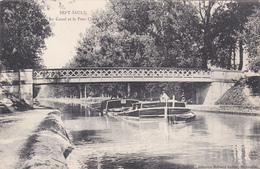 51 - SEPT SAULX - Le Canal Et La Pont L'Issm Avec Pèniche  - Voir 2 Scans - Other Municipalities