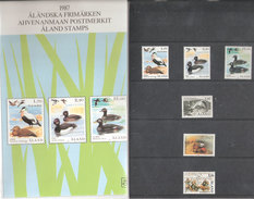 Aland Åland 1987 Ducks. Bridge, Firefighters, Municipal Assembly Mi 20-25  Yearset In Folder MNH(**) - Aland