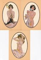 NUGERON / SERIE DE 5 CARTES / NOS PETITES FEMMES DE PARIS EN 1900 / H1 A H5 / NUES - Illustratori & Fotografie