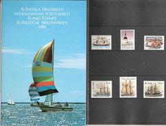 Aland Åland 1988 Ships, Church, Argricultur - Horses Mi 26-31 MNH(**) Yearset In Folder - Aland