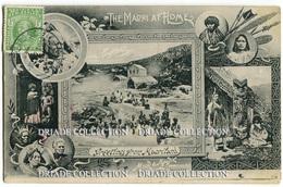 CARTOLINA GREETING FROM MAORILAND MAORI NEW ZEALAND NUOVA ZELANDA VIAGGIATA ANNO PRIMI 1900 - Nuova Zelanda
