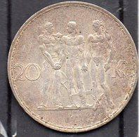 Republika Ceskoslovenska / Tchecoslovaquie - Année 1934 - 20 Korun (silver/argent) - Tschechoslowakei