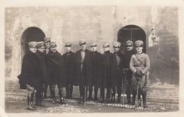 12117-FOTO FORMATO CARTOLINA-GRUPPO UFFICIALI ARTIGLIERIA - Guerra, Militari