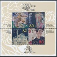 AUSTRIA/Österreich 2018 100th Anniversary Of The Death Of Klimt – Schiele – Moser – Wagner - Miniature Sheet - Blokken & Velletjes