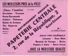 Buvard : Papeterie Centrale - Saint Etienne - - Stationeries (flat Articles)