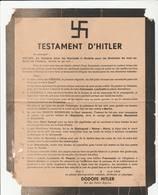 TESTAMENT D'HITLER SIGNÉ DODOFE HITLER ROI DES PETITS RIGOLOS 1944 - Historical Documents