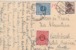 Autriche Carte Taxée En Tchécoslovaquie 1937 - 1918-1945 1st Republic