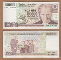 AC - TURKEY- 7th EMISSION 100 000 TL B UNCIRCULATED - Turkey