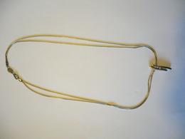 Fossil - 2-reihige Silberkette Mit Integriertem Anhänger  (566) - Halsketten