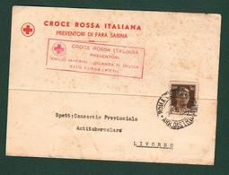 Livorno Preventori Di Fara Sabina 1938 CRI Croce Rossa Antitubercolare Tubercolosi - Italie