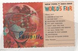 CP NEW YORK WORLD'S FAIR 1964 1965 - THE UNISPHERE - CIRCULEE EN 1964 TIMBRES TAXE - Expositions