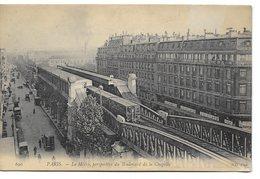 PARIS - Le Métro, Perspective Du Boulevard De La Chapelle - Stations, Underground