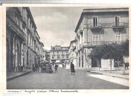 AVERSA ANGOLO PIAZZA VITTORIA ANIMATA.VIAGGIATA NO.1945.501-T - Aversa