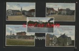 KRAPPITZ - Ring , Bahnof , Graf Haugwitz'sches Direktlonsgebaude - Polen