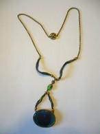 Collier - Silber Vergoldet Mit Opalbesatz (568) - Halsketten