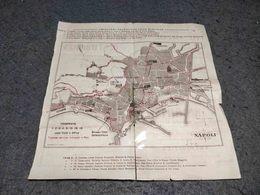 ANTIQUE EUROPE ITALY NAPOLI PRINCIPAL TRAM SERVICES MAP BROCHURE 1930'S - Autres