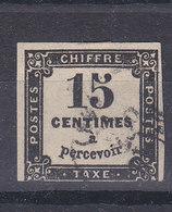 TAXE 15 CTS NOIR TYPOGRAPHIE - COTE 15 EURO - 1859-1955 Oblitérés