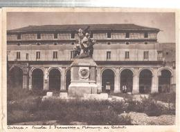 AVERSA SCUOLA E MONUMENTO AI CADUTI.VIAGGIATA NO.1945.503-T - Aversa