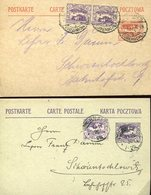 37697 Poland, 2 Stationery Card Circuled 1921 - Occupations