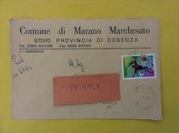COMUNI D'ITALIA BUSTA DEL 2001 COMUNE DI MARANO MARCHESATO CON ROMA CAMPIONE ISOLATO - 2001-10: Marcophilia