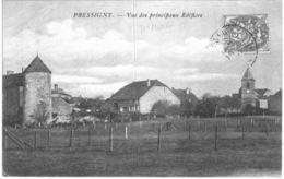 PRESSIGNY .... VUE DES PRINCIPAUX EDIFICES - France