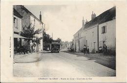CHARGEY LES GRAY Route De Gray.L' Arrivée Du Car.Autobus - Autres Communes