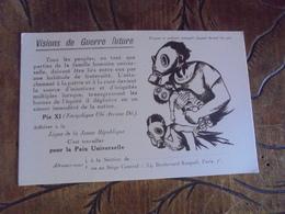Visions De Guerre Future .  Femmes Et Enfants Masques à Gaz,  Ligue De La Jeune République, Illustrateur  Dessin - Guerre 1939-45