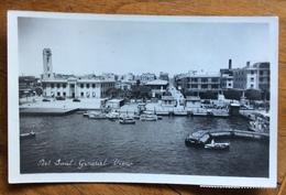 PORT SAID  CARTOLINA PER FIRENZA VIA PORT DE BOUC  10/8/53 - Port Said