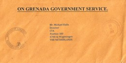 Grenada 2012 St Georges Unfranked Official Postage Paid Cover - Grenada (1974-...)