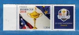 Francia ** -2018 -  RYDER CUP. Bord De Feuille .MNH.  Vedi Descrizione - Francia