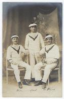 CPA Carte Photo Militaire Marin Marins Nommés Bateau De Guerre Cuirassé Henri IV Malte Grèce Balkans Salonique Liban. - Guerre 1914-18