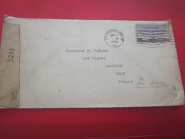 WW2 Letter Examined By 5239 Censorship-Letter Charlottesville United States 1944 Letter & Document-to Lasalle Gard Franc - Etats-Unis