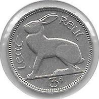 *ireland 3 Pence 1940  Km 12  Xf - Irlande