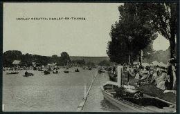 RB 1213 -  Early Postcard - Henley Regatta - Henley-on-Thames Oxfordshire - England