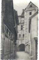 CARTE-PHOTO GLACEE - MONTBELIARD . VIEILLES MAISONS PASSAGE DE LA FLEUR . AFFR AU VERSO . 2 SCANES - Montbéliard
