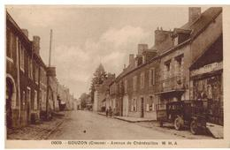 Gouzon: Avenue De Chenerailles, Camion De Livraison, Peu Courant - France